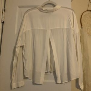 Forever 21 Tops - White Long Sleeve Button Up!!